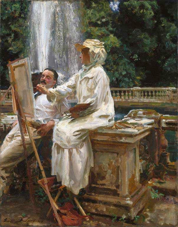 Sargent - The Fountain, Villa Torlonia, Frascati, Italy - 1907
