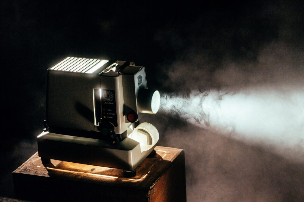 Old time projector camera