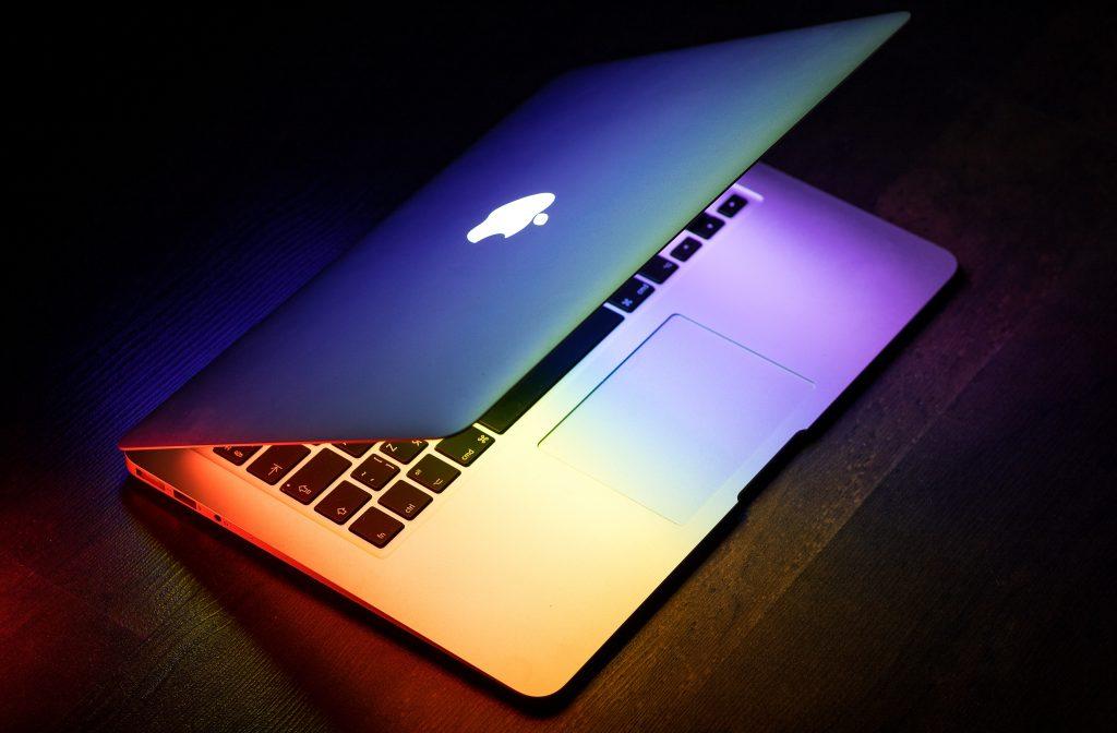 Half-open Mac Book Pro