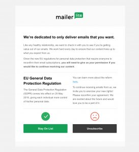 Image of MailerLite template